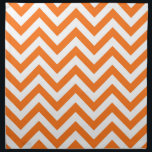 "Pumpkin Orange, White Large Chevron ZigZag Pattern Cloth Napkin<br><div class=""desc"">Pumpkin Orange and White Large Chevron ZigZag Pattern You can also customize this with your own images and text to create your own unique one-of-a-kind design. Please note that this is a digitally created graphic design that&#39;s transferred to the underlying product. The design itself doesn&#39;t contain actual ribbon, labels, metals,...</div>"