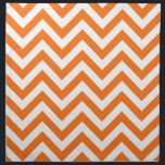 """Pumpkin Orange, White Large Chevron ZigZag Pattern Cloth Napkin<br><div class=""""desc"""">Pumpkin Orange and White Large Chevron ZigZag Pattern You can also customize this with your own images and text to create your own unique one-of-a-kind design. Please note that this is a digitally created graphic design that&#39;s transferred to the underlying product. The design itself doesn&#39;t contain actual ribbon, labels, metals,...</div>"""