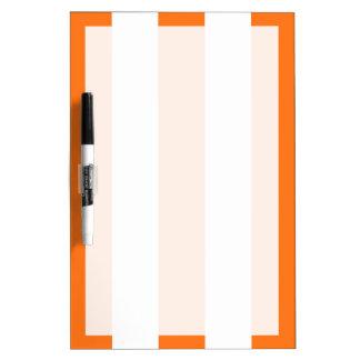 Pumpkin Orange White XL Stripes Pattern Dry Erase Boards
