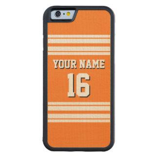 Pumpkin Orange Wht Team Jersey Custom Number Name Carved Maple iPhone 6 Bumper Case