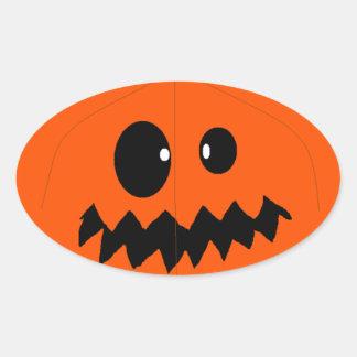 Pumpkin Oval Sticker