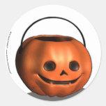 Pumpkin Pail Halloween Stickers