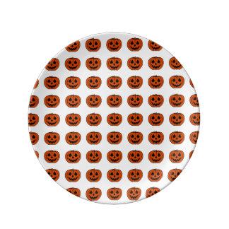 PUMPKIN PAL (Halloween Jack-O-Lantern) ~ Porcelain Plate