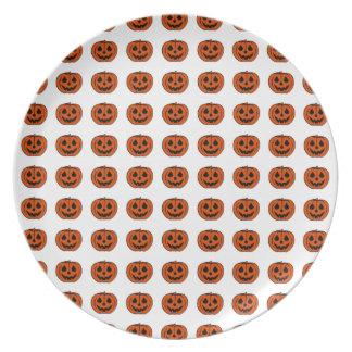 PUMPKIN PAL (Halloween Jack-O-Lantern) ~ Dinner Plates