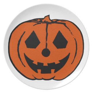 PUMPKIN PAL (Halloween Jack-O-Lantern) ~ Party Plates