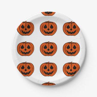 PUMPKIN PAL (Halloween Jack-O-Lantern) ~ 7 Inch Paper Plate