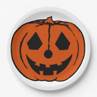 PUMPKIN PAL (Halloween Jack-O-Lantern) ~ 9 Inch Paper Plate