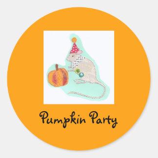 Pumpkin Party Classic Round Sticker