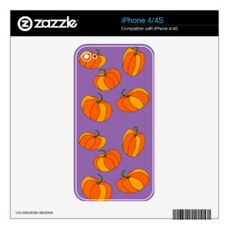 Pumpkin Party on iPhone 4/4S Skin Skin For iPhone 4