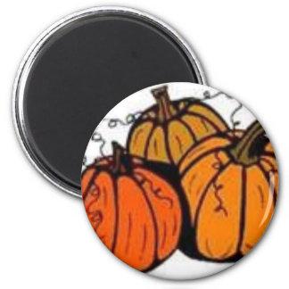 pumpkin patch 2 inch round magnet