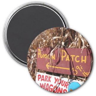 Pumpkin Patch 3 Inch Round Magnet