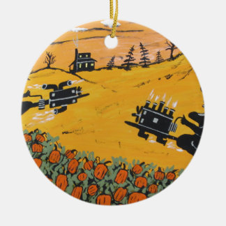 pumpkin patch 500 ceramic ornament