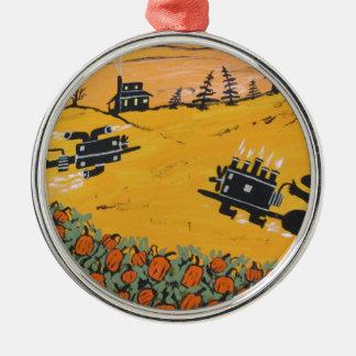pumpkin patch 500 metal ornament