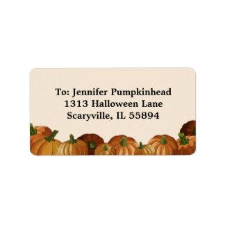 Pumpkin Patch Address Label