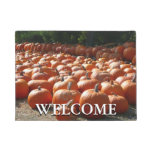 Pumpkin Patch Autumn Harvest Photography Doormat