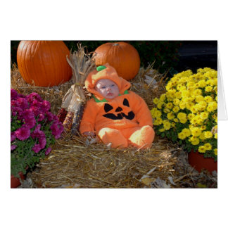 Pumpkin Patch Baby Greeting Card