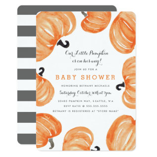 Pumpkin Patch Baby Shower Card at Zazzle
