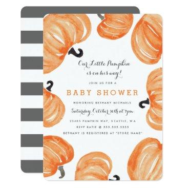 Halloween Themed Pumpkin Patch Baby Shower Card