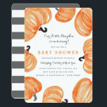 """Pumpkin Patch Baby Shower Invitation<br><div class=""""desc"""">Halloween themed baby shower invitation featuring a whimsical and fun orange and black watercolor painted pumpkin design by Shelby Allison.</div>"""