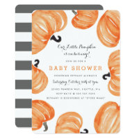Pumpkin Patch Baby Shower Invitation
