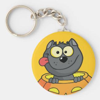 Pumpkin Patch Baby Werewolf Keychain