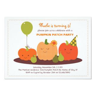 "Pumpkin Patch Birthday Invitation 5"" X 7"" Invitation Card"