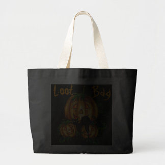 PUMPKIN PATCH, BLACK CAT LOOT BAG by SHARON SHARPE
