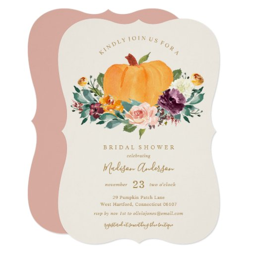 Pumpkin Patch Bridal Shower Fall Invitation