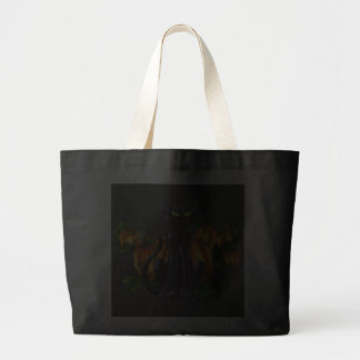 PUMPKIN PATCH & CAT by SHARON SHARPE Tote Bags