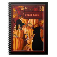 Pumpkin Patch Cats Halloween Party Guest Book