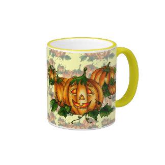 PUMPKIN PATCH CUP by SHARON SHARPE Ringer Coffee Mug