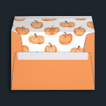 """Pumpkin Patch Envelope<br><div class=""""desc"""">Halloween costume or pumpkin carving party design featuring whimsical and fun orange and black watercolor painted pumpkins by Shelby Allison.</div>"""