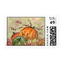 Pumpkin Patch Fall Season Postage
