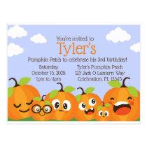 Pumpkin Patch Farm Kids Birthday Invitation Postcard
