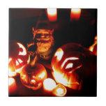 Pumpkin Patch Gnome III Ceramic Tiles