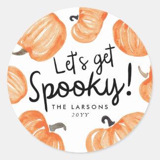 Pumpkin Patch Halloween Classic Round Sticker