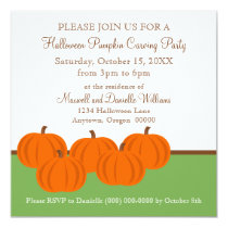 Pumpkin Patch Halloween Invitation