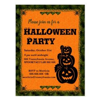 Pumpkin Patch Halloween Invitation Postcard
