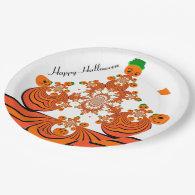 pumpkin patch Halloween paper plates 9 Inch Paper Plate