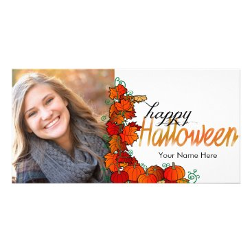 Halloween Themed Pumpkin Patch Happy Halloween | Photo Card