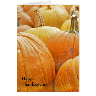 Pumpkin Patch Happy Thanksgiving Card