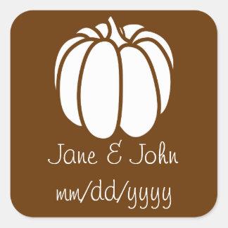 Pumpkin Patch in Chocolate Sticker