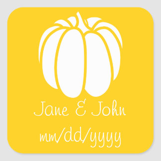 Pumpkin Patch in Yellow Sticker