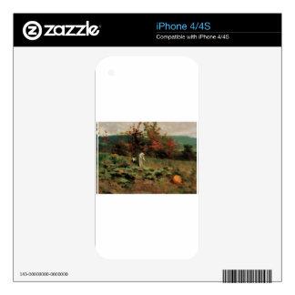 pumpkin-patch iPhone 4S decals