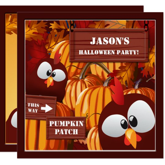 Pumpkin Patch Kid's Halloween Party Invitation