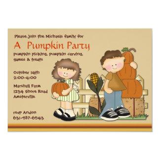 Pumpkin Patch Kids Invitation