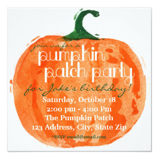 Pumpkin Patch Party Card