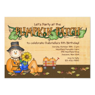 Pumpkin Patch Party Invitation