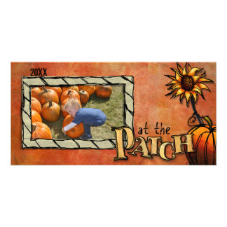pumpkin patch photo card