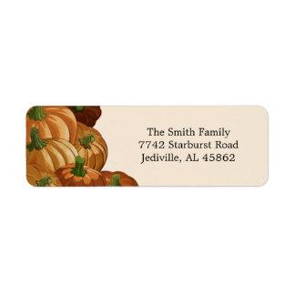 Pumpkin Patch Return Address Labels